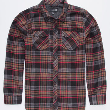 Subculture Abuelo Mens Flannel Shirt Black  In Sizes