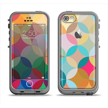 The Overlaping Colorful Connect Circles Apple iPhone 5c LifeProof Fre Case Skin Set