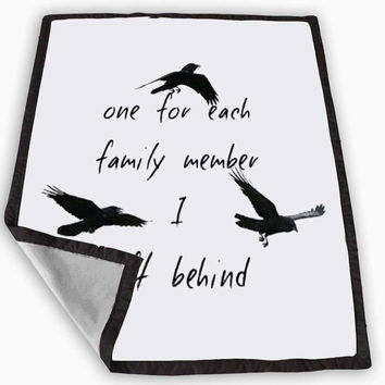 Divergent Tris Tattoo Ravens Quote Blanket for Kids Blanket, Fleece Blanket Cute and Awesome Blanket for your bedding, Blanket fleece **