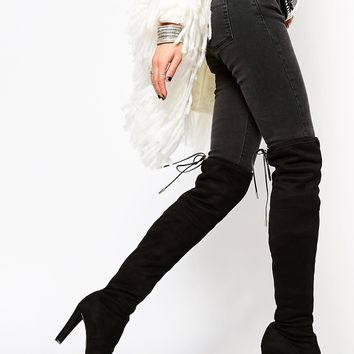 Carvela Sammy Black Heeled Over The Knee Boots