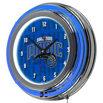 Orlando Magic Game Room Premium Neon Clock