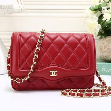 VLXZGW7 Chanel' Simple Fashion All-match Quilted Metal Chain Single Shoulder Messenger Bag Women Small Square Bag