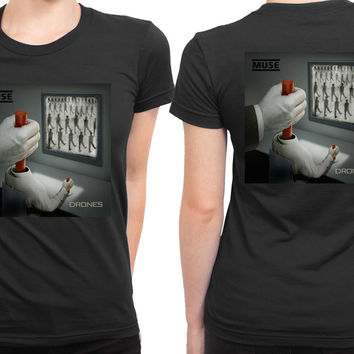 Muse Drones Cover Album Artwork 2 Sided Womens T Shirt