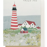 maine lighthouse thank you card