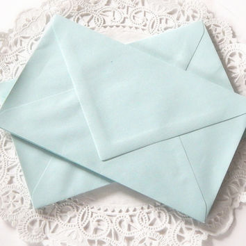 Vintage Blue Envelopes. Stationery Envelopes. Letter Envelope. Letter Paper. Invitation Envelope. Junk Journal Paper. Blue Ephemera. Shabby.