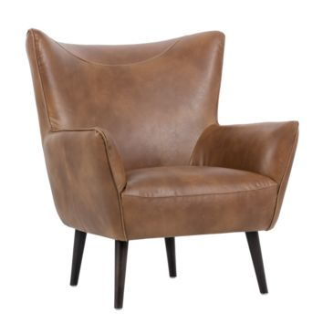 LUTE TAN LEATHER ACCENT CHAIR