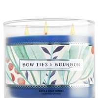3-Wick Candle Bow Ties & Bourbon