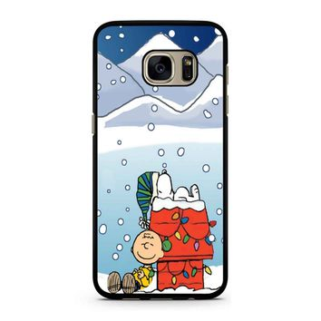 Charlie And Snoopy Brown Christmas Samsung Galaxy S7 Case