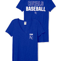 Kansas City Royals V-Neck Tee - PINK - Victoria's Secret