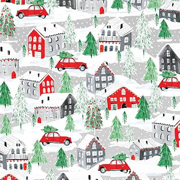 Bulk Ream Roll Christmas Gift Wrap Wrapping Paper, Home Town