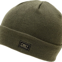 Obey Rebel Army Green Fold Beanie