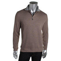Tasso Elba Mens Ribbed Knit Funnel Neck Pullover Sweater