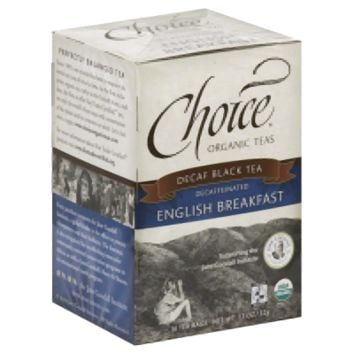 Choice Organic Teas Decaf English Breakfast 16 Bag (Pack of 6)