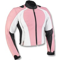 Pink Biker Racing Leather Jacket