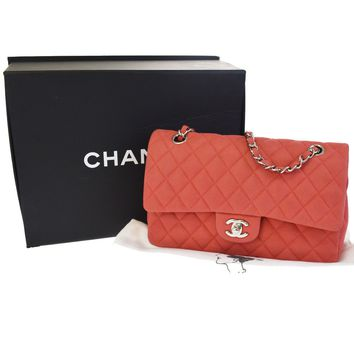 Auth CHANEL CC Matelasse Double Flap Quilted Chain Shoulder Bag Caviar 861BD288