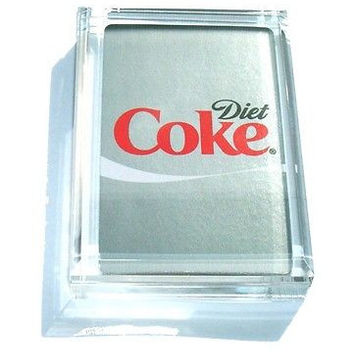 Acrylic Diet Coke Coca Cola Executive Desk Paperweight