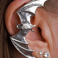 Sterling Silver Big Bat Ear Wrap Cuff Goth Vampire Right ear Earring