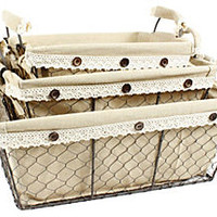 One Kings Lane - Francophile Style - S/3 Rect. Toscana Baskets