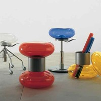 Plastic stool Tazebao Collection by Lema | design Enzo Calabrese, Fabio Meliota, Geert Koster