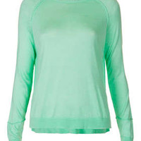 Petite Knitted Fine Gauge Top in Mint