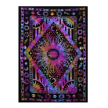 Indian Mandala Hippie Tapestry Wall Hanging Carpet Bohemian Beach Throw Towel Mat Blanket Yoga Mat Bedspread Table Cloth