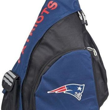 New England Patriots NFL Northwest Leadoff Sling Bag Adult Backpack Blue Travel