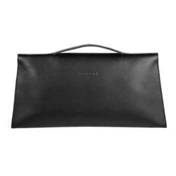 Leather clutch- Small suitcase Black | Meckela
