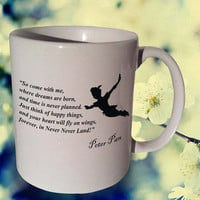 Peter Pan So COME WITH ME coffee mug,tea mug
