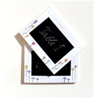 Set of 2 Whimsical Pictureframes with Chalkboard by byAnnoDomini