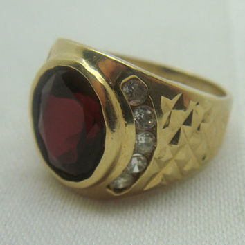 shop garnet mens rings on wanelo. Black Bedroom Furniture Sets. Home Design Ideas