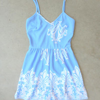Periwinkle in July Romper [7321] - $38.00 : Feminine, Bohemian, & Vintage Inspired Clothing at Affordable Prices, deloom