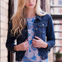 QUINN DARK WASH DENIM JACKET