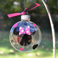 Mickey or Minnie Mouse Christmas ornament