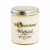 Wicked Candle, Soy Candle, Scented Candle, Vegan Candle, Jar Candle, Container Candle, Wonderland Candle, Alice in Wonderland