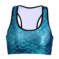 With Steel Wire Bra Underwear Print Yoga Sports Bra [6533731911]