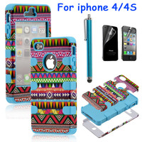 2322Totem Protective Case For Iphone 4/4s/5 with pen and sticker