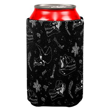 Dinosaur Dino Bones Fossil Pattern All Over Can Cooler