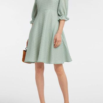 Rachel Gingham Woven Dress