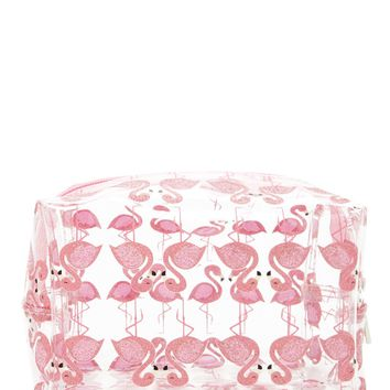 Glitter Flamingo Makeup Bag