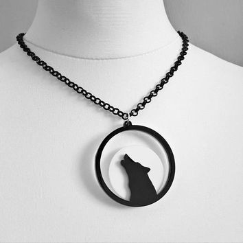 Howl at the Moon Wolf Necklace