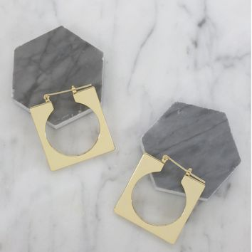 ERT Offer: Squared Off Hoops in Gold