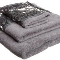 "Popular Bath ""Sinatra Silver"" 3-Piece Towel Set"