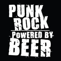 Punk Cloth Patch - Powered By Beer