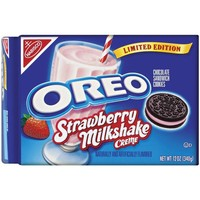 Walmart: Nabisco Oreo Chocolate with Strawberry Milkshake Creme Sandwich Cookies, 12 oz