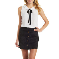 Peter Pan Collar Bow Top