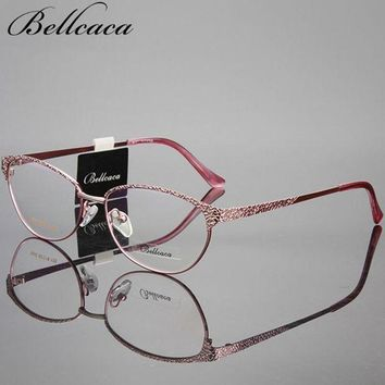 ONETOW Bellcaca Optical Spectacle Frame Women Computer Eye Glasses Frame For Women's Transparent Clear Lens Female Eyeglasses BC013