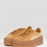Puma X Fenty Suede Creepers In Sand at asos.com
