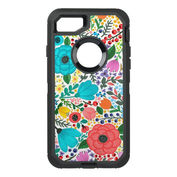 Garden Flowers OtterBox Defender iPhone 8/7 Case