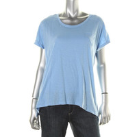Style & Co. Womens Cotton Scoop Neck Pullover Top