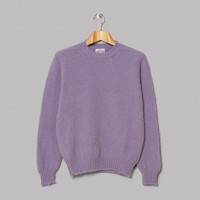 Jamieson's Brushed Lambswool Crew Neck (Lilac) | Oi Polloi
